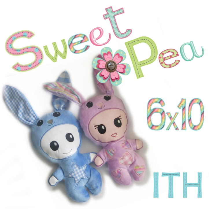 boy and girl bunny onesy ith in the hoop stuffed toy machine emroidery design