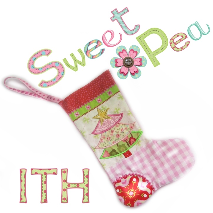 christmas stocking  ith in the hoop stuffed toy machine embroidery design