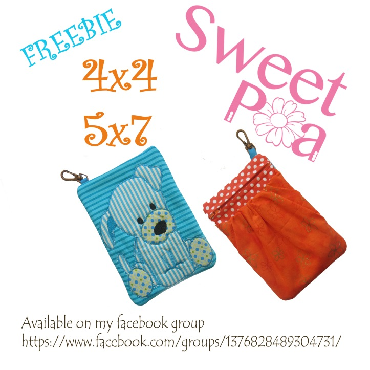 Dog hipster and key fob 5x7 4x4 freebie in the hoop