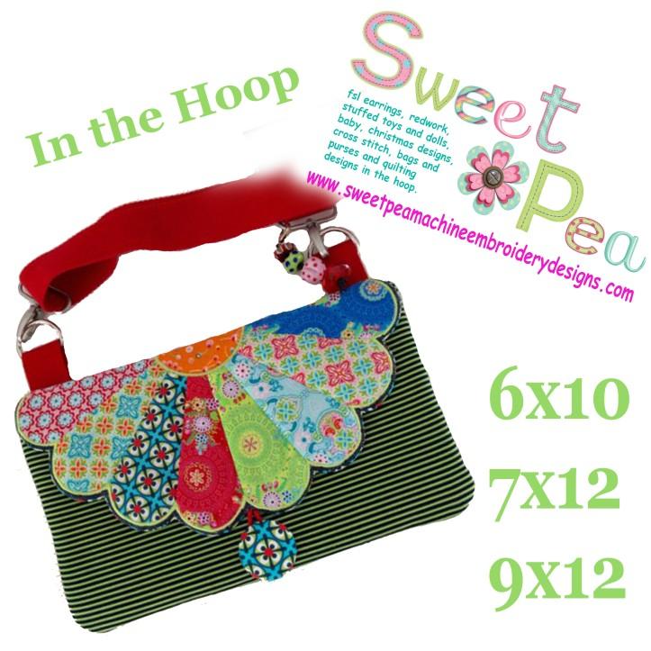 dresden handbag 6x10 7x12 9x12 in the hoop machine embroidery