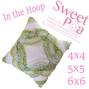 Frill cushion and quilt block 4x4 5x5 6x6 in the hoop machine embroidery design