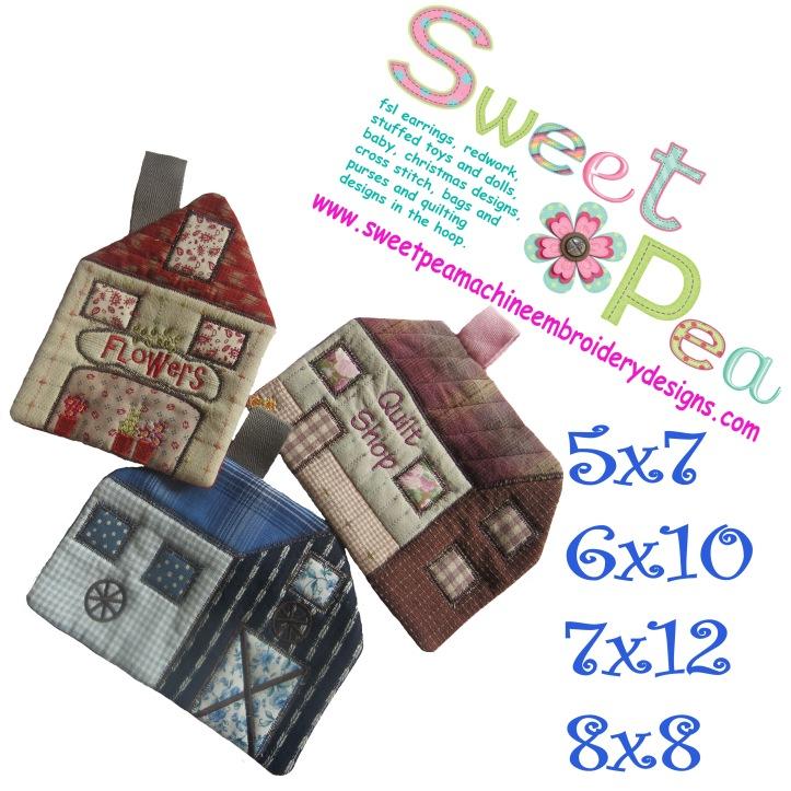 House mugrugs 5x7 6x10 7x12 8x8 in the hoop machine embroidery design