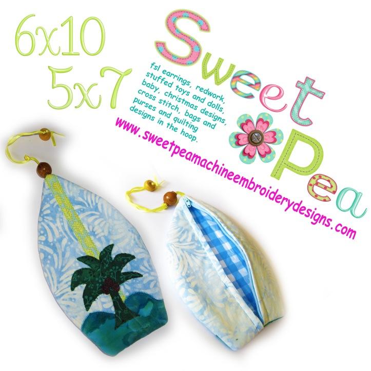 Japanese hawaiian zipper purse 5x7 and 6x10