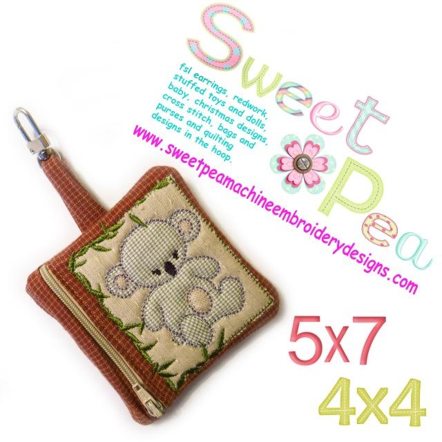 koala zipper purse