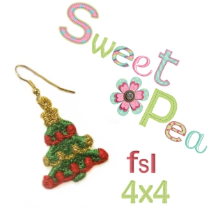 little christmas tree earrings fsl in the 4x4 hoop2