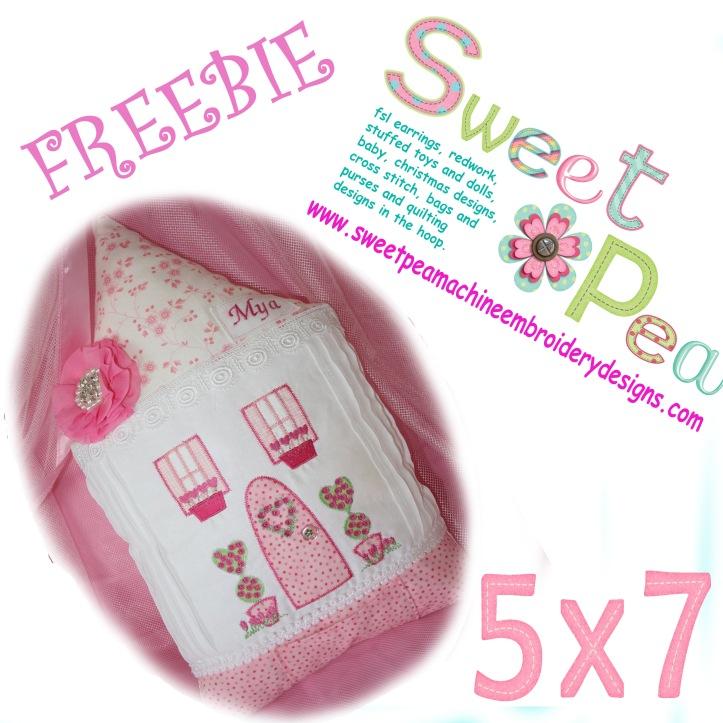 Love cottage applique 5x7 machine embroidery design