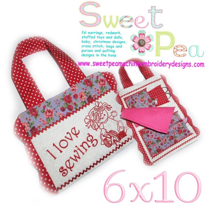 sewing kit 1 redwork girl