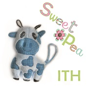 small Cow  ith in the hoop stuffed toy machine embroidery design
