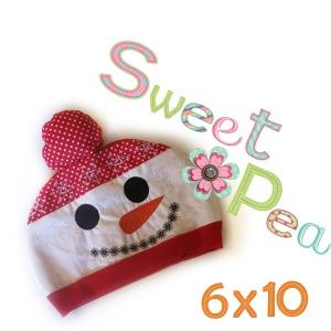 snowman hat 6x10