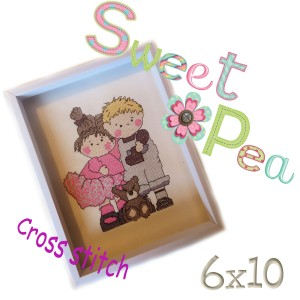 Sweethearts cross stitch ith 6x10