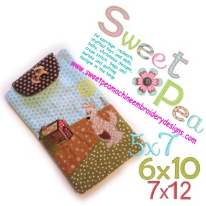 tablet case with strap kangaroo 5x7 6x10 and 7x12