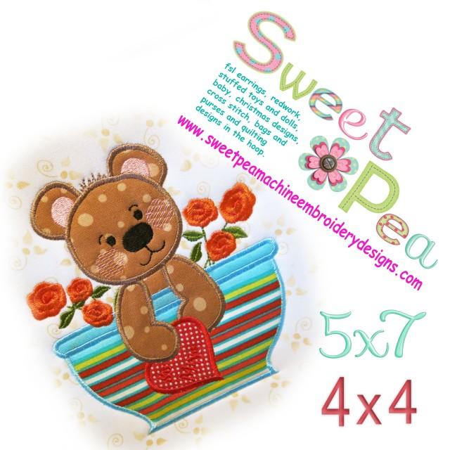 Valentine bear in a mug
