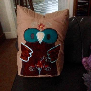 0106 Mary Woolley owl door stop toy stuffie