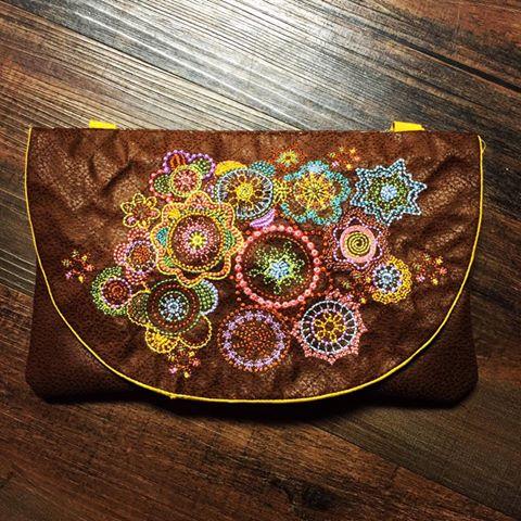 0604 Laura Carnley Hobo Clutch Purse Bag autumn