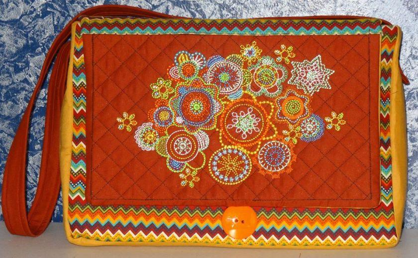 1304 Annie Neracher Rossetto-Bodwin Hobo Clutch Purse Bag autumn