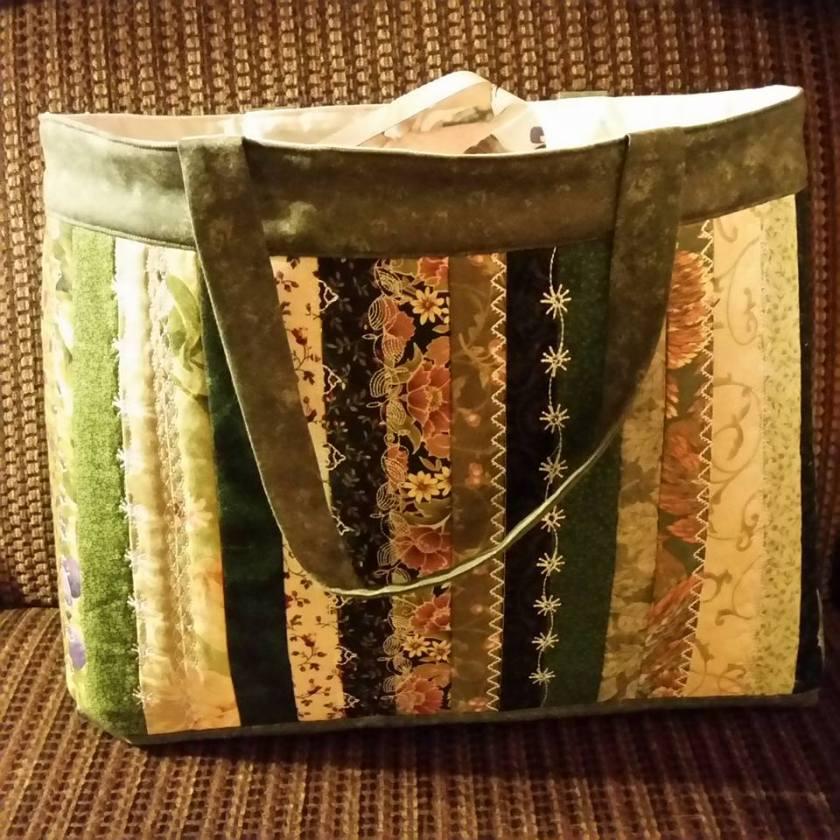 2402 tina page mann  sampler tote bag autumn