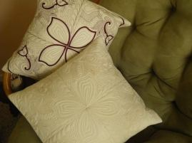 2704 Elizabeth Belcher 2 fantasy quilt blocks pillow cushion