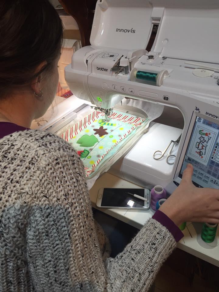 alyssa at machine