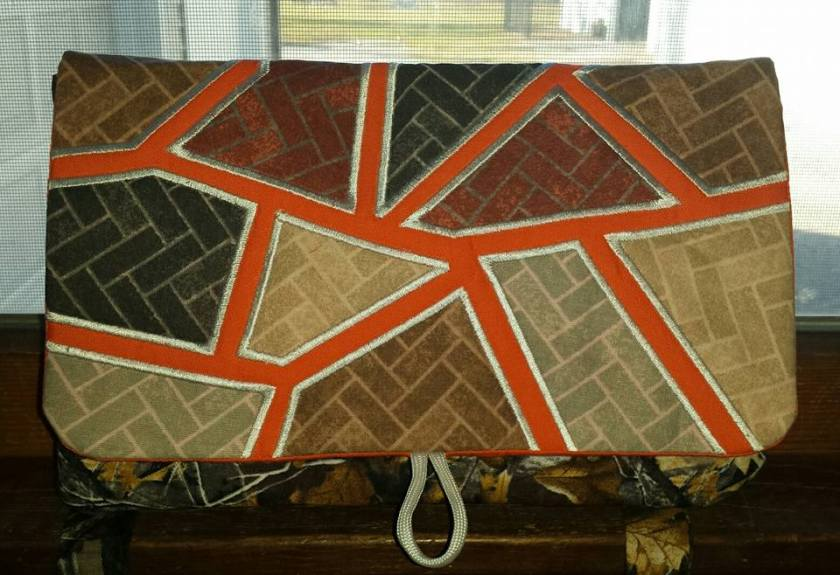 dawn Thompson hockgeiger mosaic clutch purse bag autumn