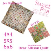 Dear Allison Quilt block 36 of the week 4x4 5x5 6x6 in the hoop machine embroidery