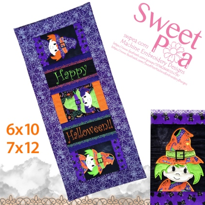 machine embroidery, machine embroidery designs, in the hoop, quilt, applique , halloween