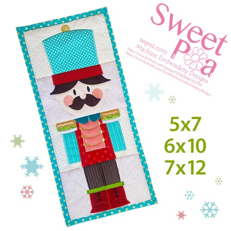 machine embroidery, machine embroidery design, in the hoop, nutcracker, christmas