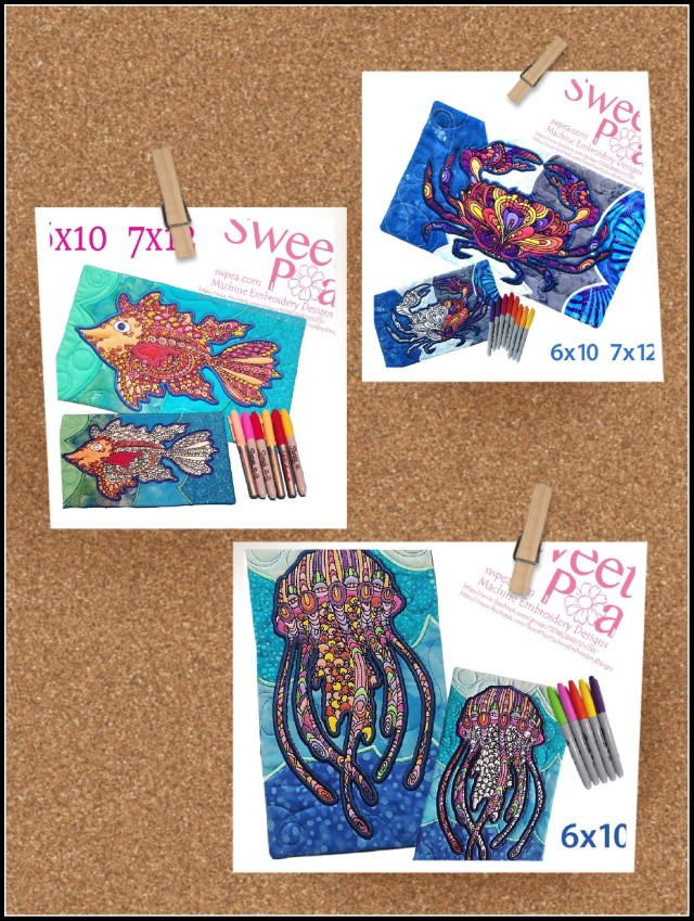 machine embroidery design, machine embroidery designs, in the hoop, colour in