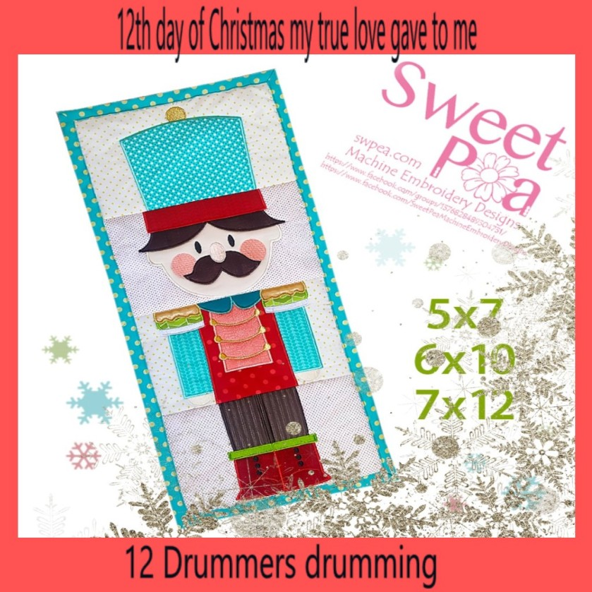 machine embroidery design nutcracker