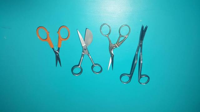 machine embroidery applique scissors