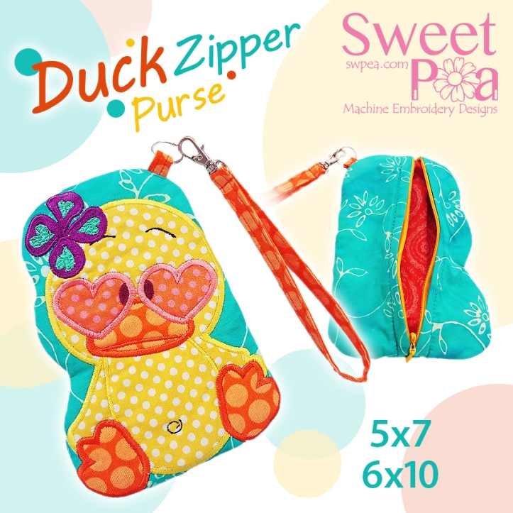 machine embroidery design duck charity