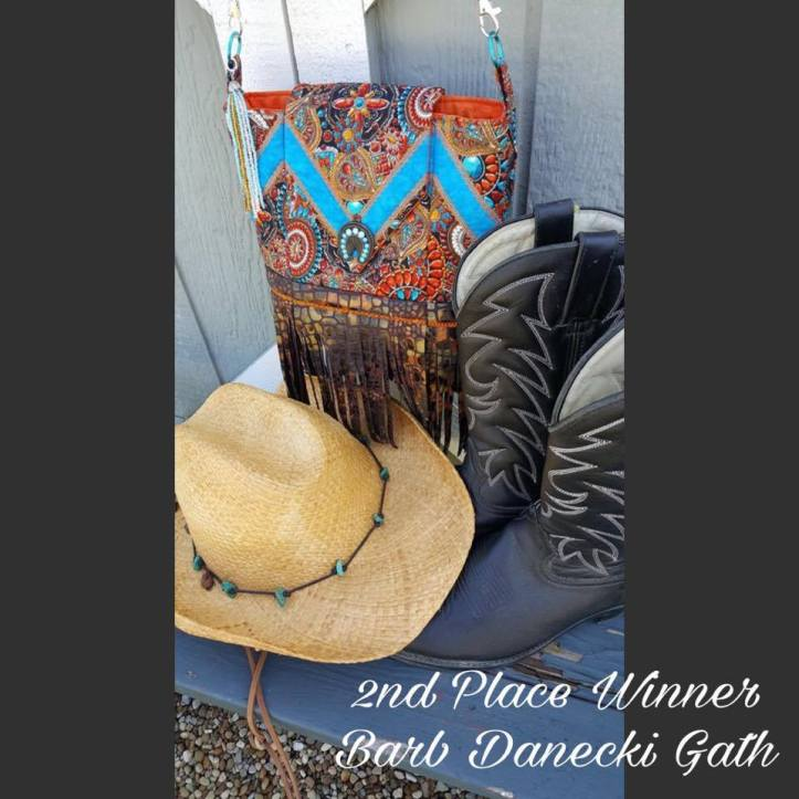 Machine embroidery design in the hoop sew-a-long winner