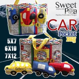 Car Pocket Bag 5x7 6x10 7x12 in the hoop