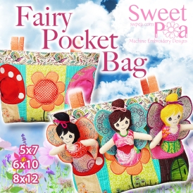 Fairy Pocket Bag 5x7 6x10 8x12 in the hoop